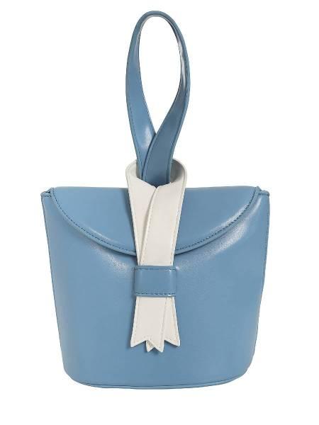 Collectif Tasche Luiza Ribbon Bag hellblau