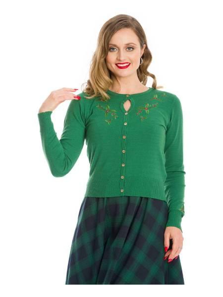 Banned Cardigan Holly Go Lightly grün