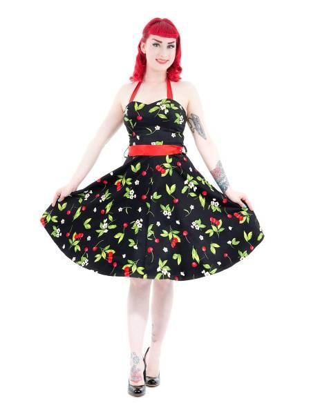 Hearts and Roses Petticoatkleid Black Cherry