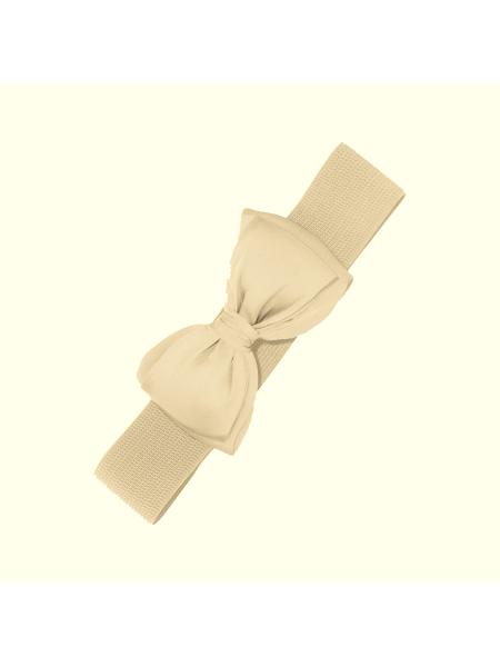 Banned Stretchgürtel Bella creme mit Schleife