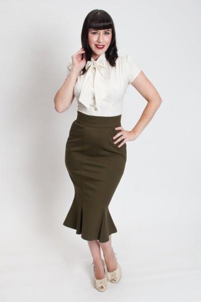 Heart of Haute Rock Diva Skirt oliv