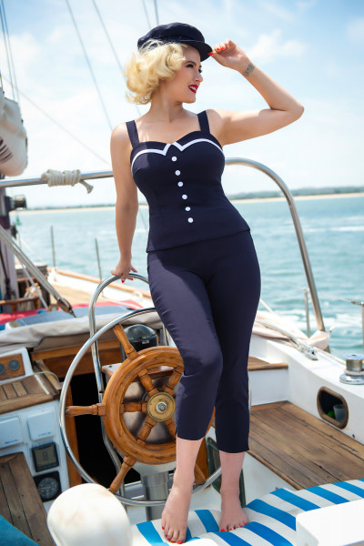 Glamour Bunny Caprihose Donna dunkelblau