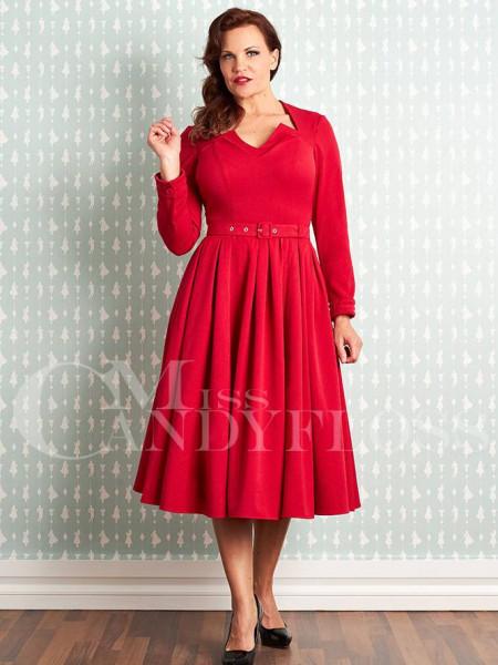 Miss Candyfloss Kleid Parinita-Rose rot