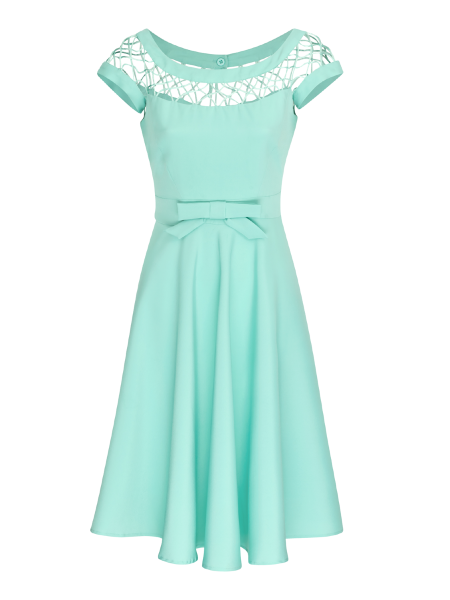 Tatyana 50s Kleid Alika Circle hellblau