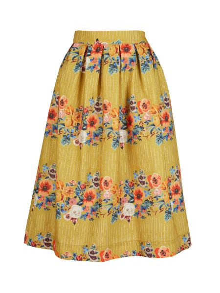 Palava Rock Ada Skirt Mustard Floral Garland