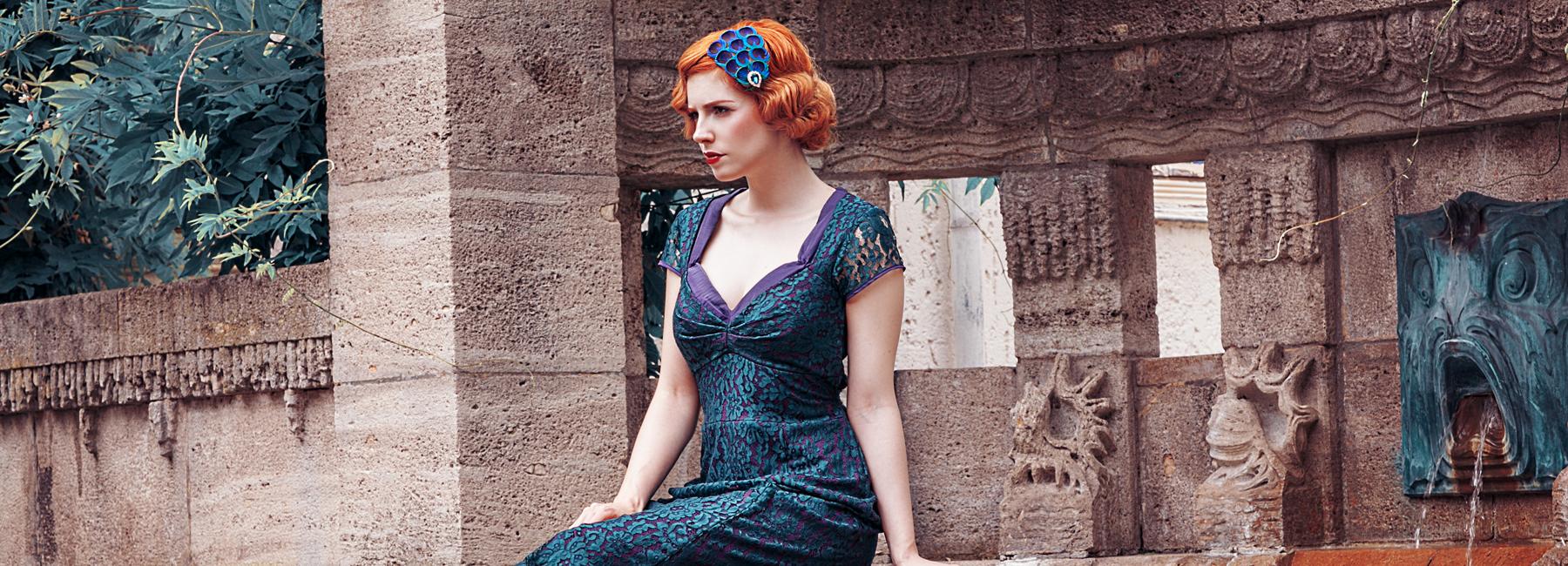 Elegante Kleider in A-Linie im Stil der 1930er, 1940er, 1950er und 1960er Jahre, Mod und Sixties Kleider