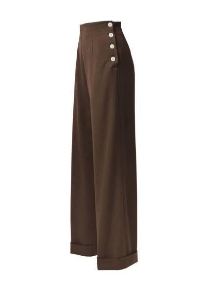 House of Foxy Hose 1940s Swing Trousers braun