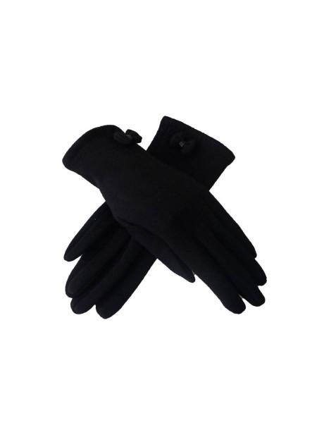 Handschuhe Tamsin Gloves schwarz mit Schleife