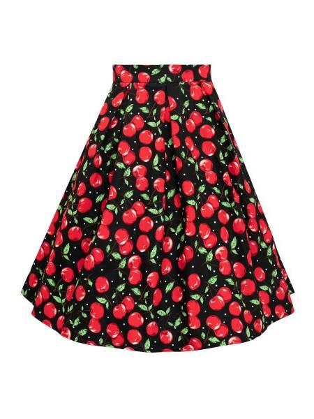 Dolly & Dotty Rock Carolyn Retro Cherry Swing Skirt
