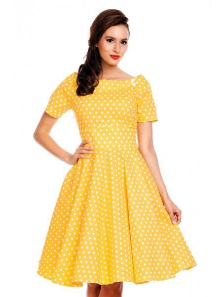 Dolly & Dotty Kleid Darlene Yellow Polka gelb