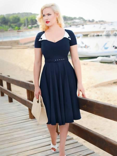 Glamour Bunny Kleid Jane Swing Dress dunkelblau