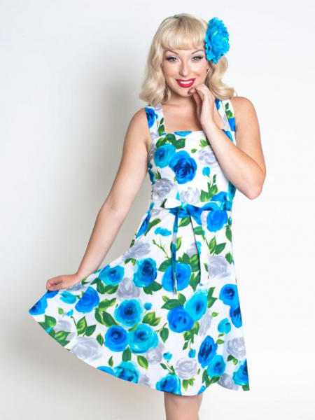 Heart of Haute Kleid Lauren Ava Rose Blue