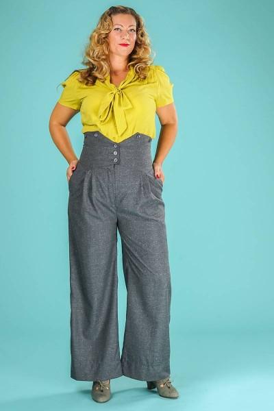 Emmy Hose Miss Fancy Pants Slacks grau meliert