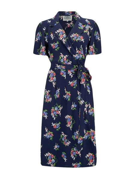 Seamstress of Bloomsbury Wickelkleid Peggy Navy Floral