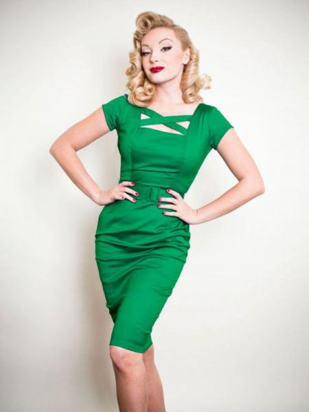 Heart of Haute Pencilkleid Velma smaragdgrün