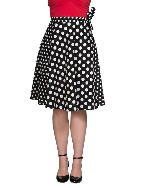 Banned Wickelrock Polka Mix Wrap Skirt