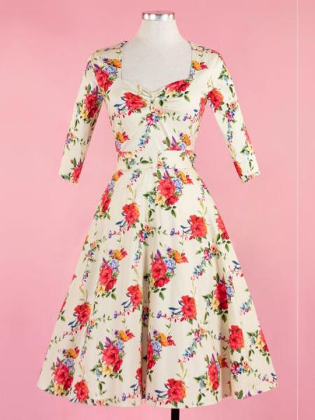 Lady V London Kleid Georgia Blossoming Poppy
