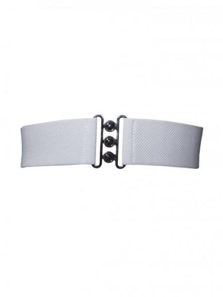 Collectif Stretchgürtel Nessa Belt weiß