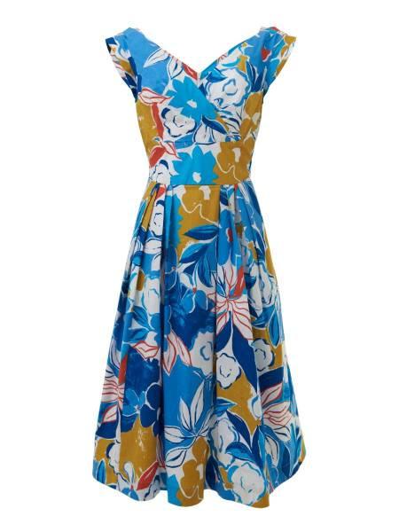 Emily & Fin Kleid Florence Blue Asilah Floral
