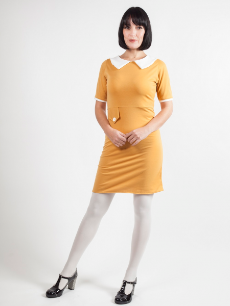 Love Her Madly Sixties Kleid Dolly Mustard