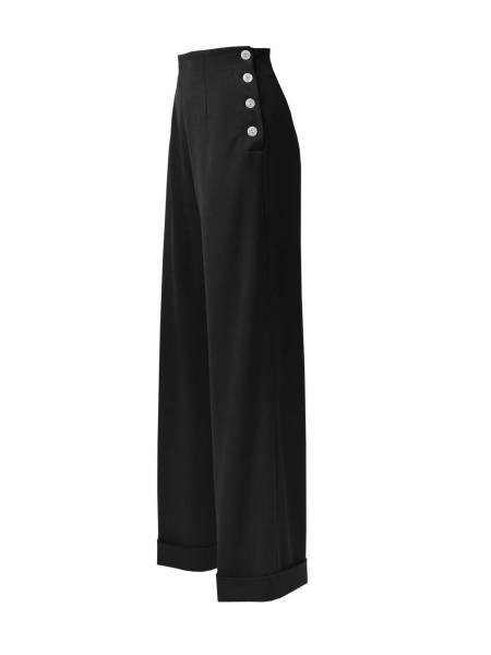House of Foxy Hose 1940s Swing Trousers schwarz