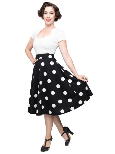 Steady Clothing Rock Dottie Thrills Skirt Polka s/w