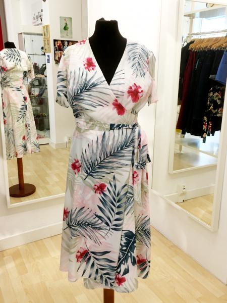 The Pretty Dress Company Wickelkleid 1940s Hawaiian Wrap Dress