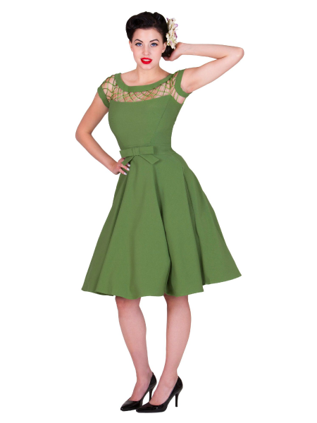 Tatyana 50s Kleid Alika Circle grün