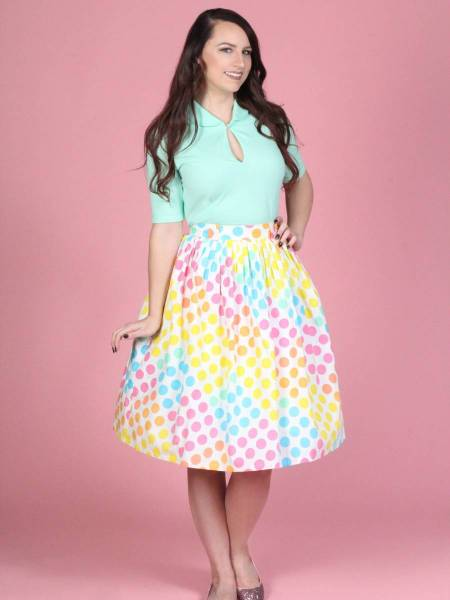 Tatyana Rock Gloria Skirt Dot Candy
