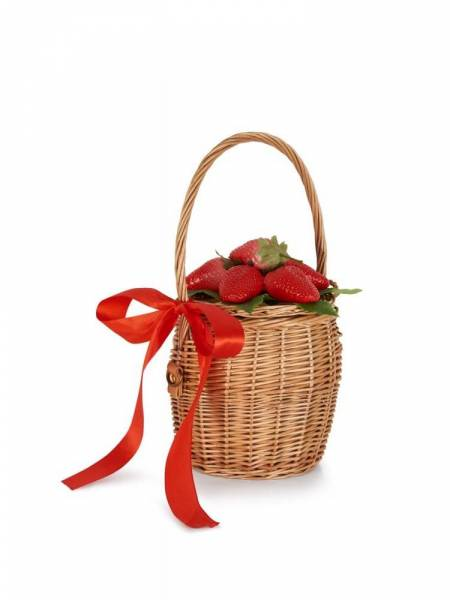 Collectif Korbtasche Dina Strawberry Basket Bag