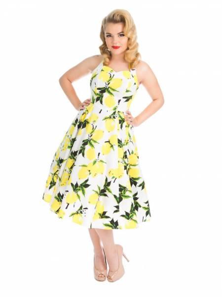 Hearts and Roses Petticoatkleid Lemon Print Swing Dress