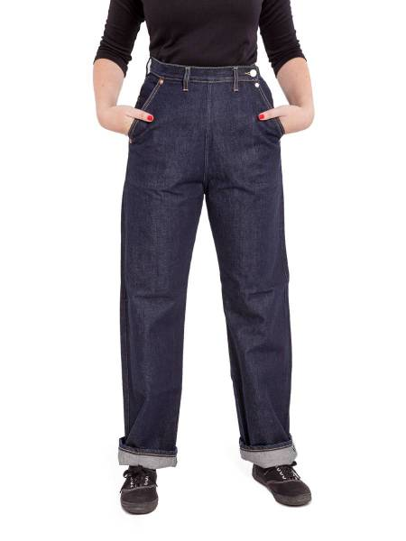 Freddies of Pinewood Buckleback Jeans dunkelblau