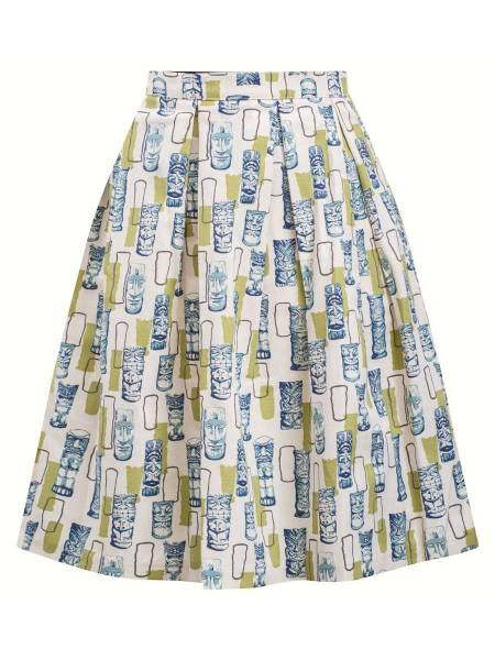 Double Trouble Apparel Rock Retro Atomic Tiki Skirt