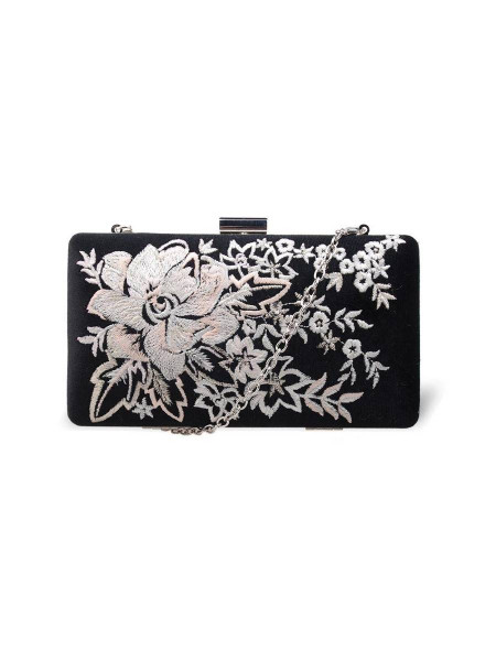 Handtasche Elise Embroidered Clutch schwarz