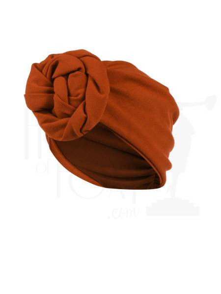 House of Foxy Turban Rust rostrot