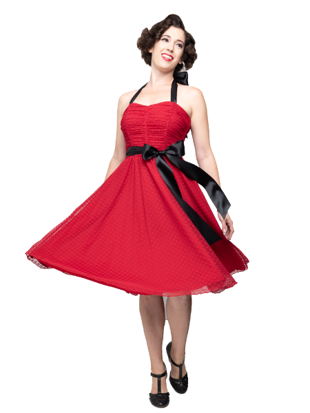 Steady Clothing Kleid Follow Your Heart Dress rot