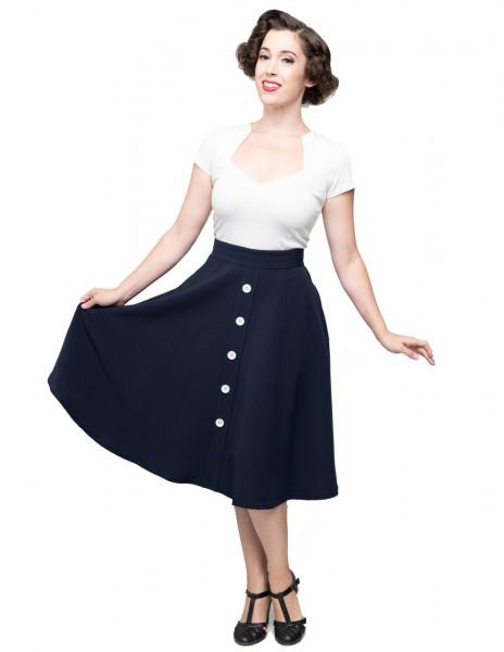 Steady Clothing Rock Button Thrills Skirt dunkelblau