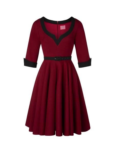 Glamour Bunny Kleid Vivienne Swing Dress weinrot