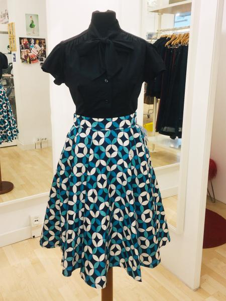 Heart of Haute Rock Circle Skirt Petals Navy
