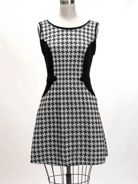 Heart of Haute 60s Kleid Mandie Black Houndstooth