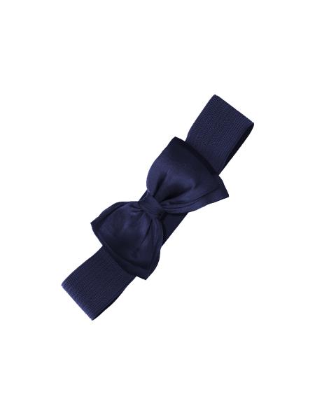 Banned Stretchgürtel Bella dunkelblau mit Schleife