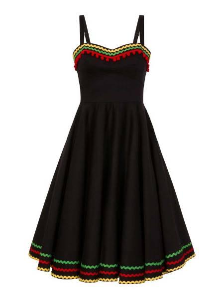 Hell Bunny Kleid Marianne schwarz