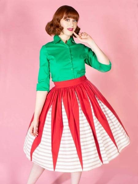 The Oblong Box Shop Rock Holiday Affair Gathered Skirt