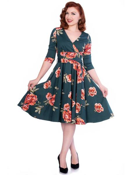 Sheen Clothing Kleid Madison Green Floral