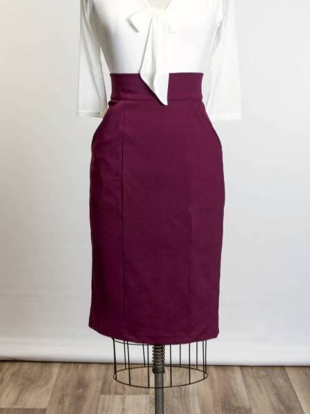 Heart of Haute Rock Princess Pencil Skirt weinrot