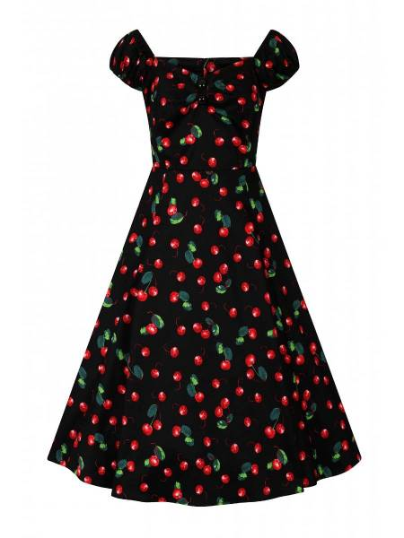 Collectif Kleid Dolores Doll Dress Black Cherry