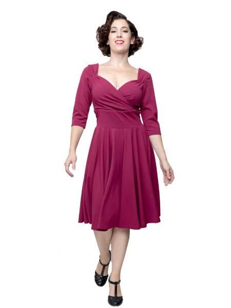Steady Clothing Kleid Full Swing Diva Dress weinrot