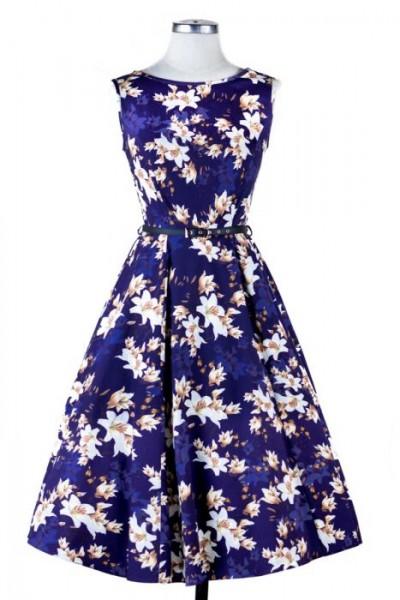 Lady V London Kleid Hepburn Golden Magnolia