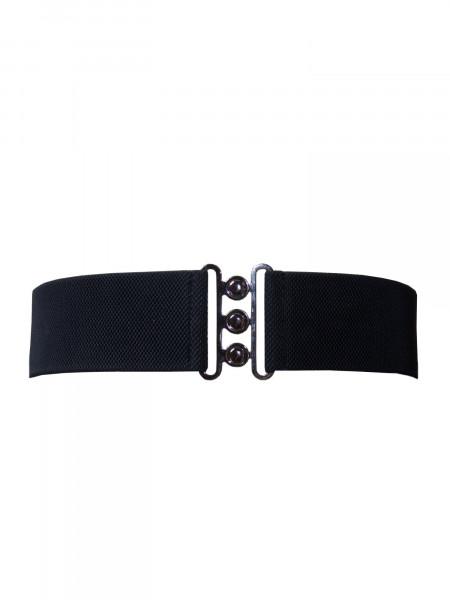 Collectif Stretchgürtel Nessa Belt schwarz