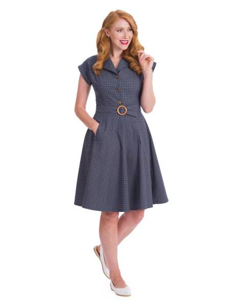 Banned Kleid Spot Perfection Dress Navy